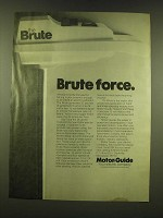 1978 Motor-guide Brute Electric Outboard Motor Ad - Brute Force