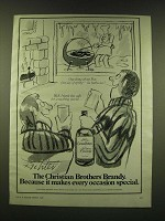 1978 Christian Brothers Brandy Ad - Cartoon by Mischa Richter