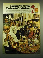 1973 Seagram's 7 Crown Whiskey Ad - Seagram's 7 Crown. It's America's Whiskey
