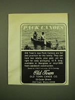 1973 Old Town Canoe Ad - Pack Canoes