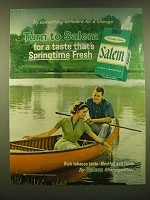 1966 Salem Cigarettes Ad - Try something different for a change Turn to Salem