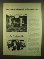 1966 VW Volkswagen Campmobile Ad - Here's how to sell your wife on