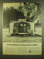 1966 VW Volkswagen Campmobile Ad - Is it a furnished car, or a house