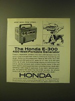 1966 Honda E-300 Portable Generator Ad - More news from Honda