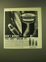 1966 Aladdin's Stanley Thermos Ad - Don't worry, you can't break it!