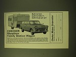 1966 Checker Marathon Family Station Wagon Ad - Built-to-last