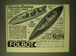 1966 Folbot Boats Ad - Smarter Boating tops safety records