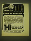 1966 Hornady Hollow Point Bullets Ad - New Hornady Hollow Point Varmint Smashers