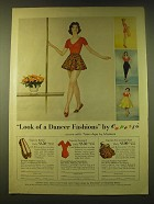 1959 Modess Teen-Age  Sanitary Napkins Ad - Look of a Dancer Fashions by Capezio