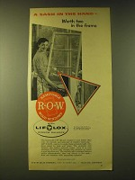1956 R-O-W Sales Company Lift-Out Windows Ad - A sash in the hand