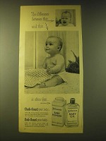 1956 Johnson's Baby Powder and Baby Oil Ad - The difference btween this