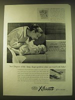 1956 Kleinert's Jiffy Pants Ad - Now! Dispose of the damp diaper problem