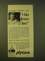 1956 Hygeia Nursing Bottles Ad - Rosemary Clooney says I like Hygeia Best