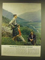 1952 Britain Tourism Ad - Over the hills and far away… in Scotland