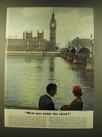 1952 Britain Tourism Ad - Meet you under the clock!