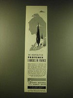 1951 French  National Tourist Office Ad - The hospitality of provence