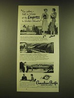 1951 Canadian Pacific Railroad Ad - Fun galore - fall or winter at the Empress