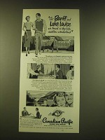 1951 Canadian Pacific Railroad Ad - At Banff and Lake Louise