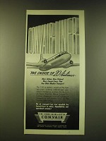 1951 Convair-Liner Airlplane Ad - The choice of 20 Airlines