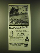 1951 Black & White Scotch Ad - They'll always find us