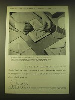 1951 Crane's Fine Papers Ad - the 150th year