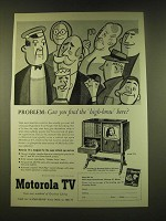 1951 Motorola Model 17F8 TV Ad - Problem: Can you find the high-brow here?