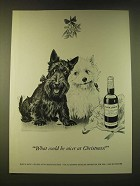 1951 Black & White Scotch Ad - What could be nicer at Christmas
