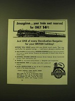 1951 British Railways Ad - Imagine… your train seat reserved for only 14¢