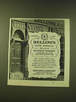 1951 Bellows Scotch Whisky Ad - Bellows Club Special Blended Scotch Whisky