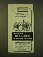 1951 Bank of America Travelers Cheques Ad - Travel carefree in Cheyenne