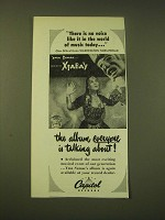 1951 Capitol Records Ad - Yma Sumac Voice of the Xtabay