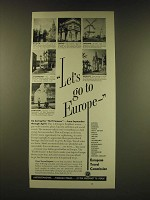 1950 European Travel Commission Ad - Let's go to Europe