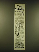 1950 New England Electric System Ad - I met New England