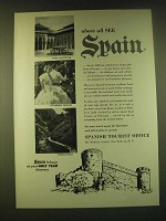 1950 Spanish Tourist Office Ad - above all see spain