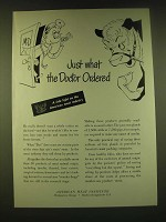 1950 American Meat Institute Ad - Just what the Doctor ordered