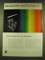 1950 Westinghouse Fluorescent Lights Ad - You can be sure