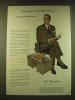 1950 The Travelers Insurance Ad - How important is The Man