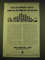 1950 The Mutual Life Insurance Company of New York Ad