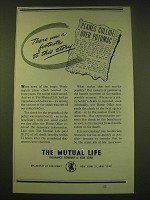 1950 The Mutual Life Insurance Company of New York Ad - There was a footnote