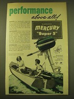 1950 Mercury Super 5 Outboard Motor Ad - Performance above all