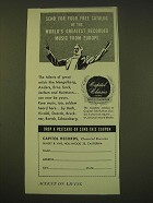 1950 Capitol Records Ad - world's greatest recordered music