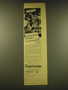 1949 Pennsylvania Tourism Ad - Packsack Trails