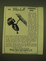 1949 Garcia Mitchell Spinning Reel Ad