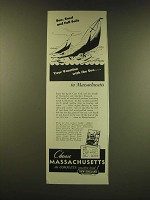 1947 Massachusetts Tourism Ad - Sun, Sand and full sails