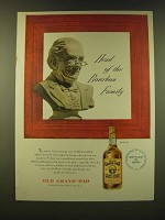 1947 Old Grand-Dad Bourbon Ad - Head of the Bourbon family