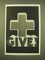 1947 American Red Cross Ad - Give!