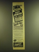1941 Zenith Radio Ad - Only Zenith has this!