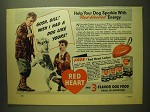 1941 Red Heart Dog Food Ad - Gosh, Bill! Wish I had a dog like yours