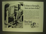 1939 Bon Ami Cleaner Ad - It cleans so thoroughly… leaves no trace of odor!