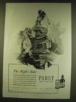 1938 Pabst Beer Ad - The right note